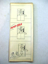 1943 O. Soglow Advertisement Cartoon for Pepsi-Cola - Woman in Phone Booth