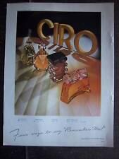 1943 CIRO Danger Surrender Reflexions PERFUME Bottle Ad