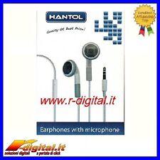AURICOLARI CON MICROFONO STEREO JACK 3,5 CUFFIE IPOD MP3 PC MP4 STEREO IPHONE