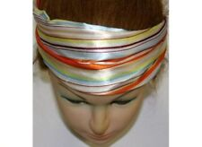 Neu SATIN HAARBAND orange/braun STIRNBAND Headband