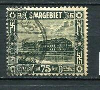Germany SAAR 1922 MI 93I Plate ERROR White spot Used CV 180 euro 3971