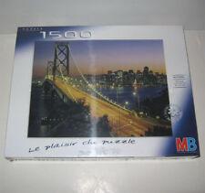 PUZZLE 1500 PIECES,SAN FRANSISCO,BAY BRIDGE,USA,MB,NEUF SCELLE,NIB! SEALED,NEU !
