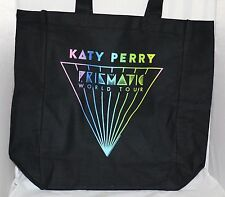 KATY PERRY Prismatic World Tour Concert Black Canvas Tote Part of VIP Package