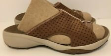 PRIVO By CLARKS Womens Brown Leather Slides Sandals (Size 5)