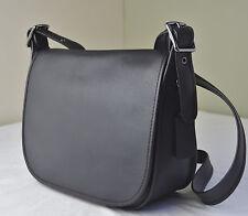 Coach 55298 Black Glove Tanned Leather Saddle Crossbody Bag