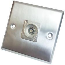 Brushed Steel BNC Female/Socket Wall Face Plate Outlet – CCTV Camera/DVR Video