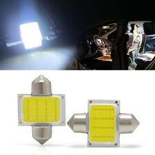 2PCS 31mm 12SMD COB LED DE3175 Bulbs Car Interior Dome Map Lights White 12V
