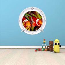 Pegatinas y plantillas de pared multicolores de animales e insectos para el hogar