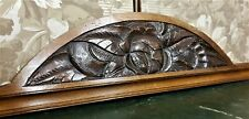 Architectural salvage art deco pediment Antique french salvaged crest cornice