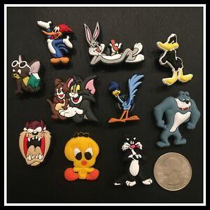 10 Shoe Charms for Crocs LOONEY TOONS Bugs Bunny Daffy Road Runner Woody Tweety