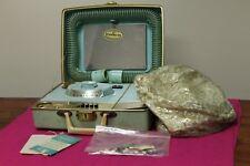 Vintage Dominion Custom Beauty Salon Blue Hard Case Hair & Nail Dryer !WORKS!