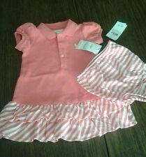 NWT Ralph Lauren Ruffled Dress w/matching Bloomers Sz 6M