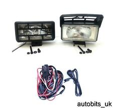 12V UNIVERSAL HALOGEN 4X4 OFFROAD CLEAR FOG SPOT LIGHTS LAMPS 180x95+ WIRING KIT