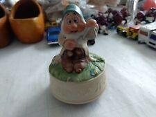 Vintage Collectible Schmid music Box Disney Snow White and Dwarfs Sleepy