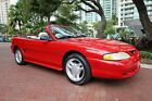 1994 Ford Mustang GT Convertible 5.0 5-Speed Manual 1994 Mustang GT Convertible Clean Carfax Gorgeous Red with White Convertible Top