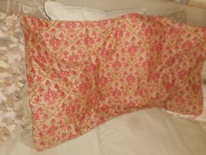 RALPH  LAUREN   LAUREN  KING  SIZE  PILLOW  SHAM  RED GOLDEN BEIGE PAISLEY NWOT