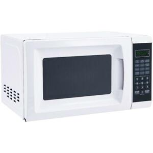 Microwave Oven Countertop Digital Food Warmer Glass Turnable 0.7 Cu 700W White