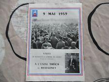 Plaquette présentation Visite du GENERAL DE GAULLE à l'usine TRECA le 9 mai 1959