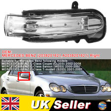 LED Mirror Indicator Repeater Right Lights For Mercedes-Benz C Class W203 4DR UK