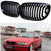 Gloss Black Front Kidney Grille Grill For BMW 3-Series E46 Coupe 03-06 Facelift