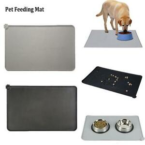 Waterproof Silicone Pet Mat Eating Spill-Proof Pet Placemat Pet Car Seat N3