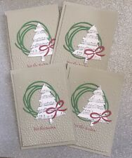 4 Bulk Christmas Tree handmade card - Stampin Up