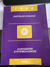 Handbuch - Chrysler Stratus - Karosserie Systemdiagnose 1996