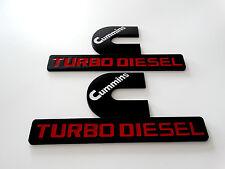 Two  Black Emblem Badge Fender FOR Cummins Turbo Diesel DODGE RAM 1500 2500 3500