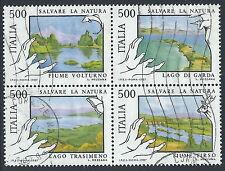 1987 ITALIA USATO BLOCCO NATURA - PK