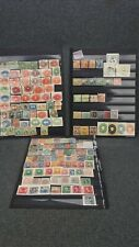 Collection of 250+ Early Used Central & South America stamps - on 5 Stock Sheets
