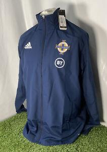 Northern Ireland Football Training Jacket Adidas Large  Soccer Anthem Track Top