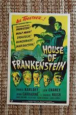 House Of Frankenstein Lobby Card Movie Poster Boris Karloff  Lon Chaney