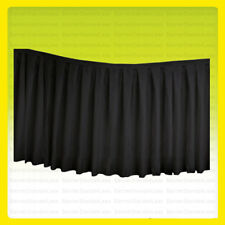 "(No Top) 17 ft x 29"" Table Skirt Banquet Wedding Party Linens Polyester BLACK"