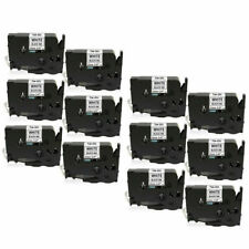 12pk Fit for Brother PT Tape Tze231 Tz 12mm 0.47 Inch Laminated Black on White