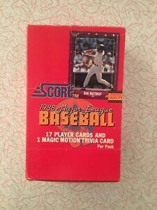 1988 Score Baseball Wax Box (36) Unopened Packs