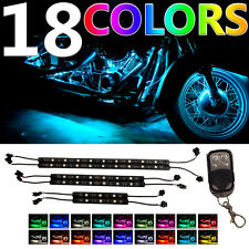 6Pc Million-Color Led Motorcycle UnderBody Neon Accent Light Strip Kit w Remote(Fits: Mastiff)