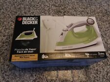 Black And Decker Easy Steam Compact Iron Ir34V Green Used w/ Box & Instructions