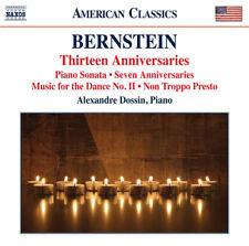 Leonard Bernstein : Bernstein: Thirteen Anniversaries CD (2015) ***NEW***
