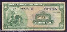 B-D-M Alemania Germany Fed. Rep. 20 Deutsche Mark 1949 Pick 17a BC+ F+