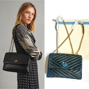 NEW TORY BURCH LARGE KIRA CHEVRON CONVERTIBLE SHOULDER BAG $528 so soft and Lux