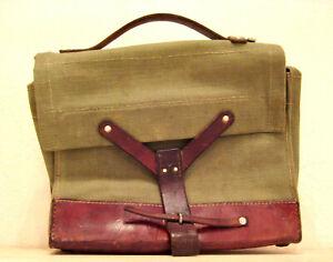 Leder Tasche  Schweizer Armee Sattlerarbeit  Armeetasche Vintage Bag