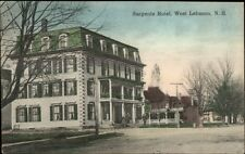 West Lebanon NH Sargents Hotel - Nice Color -  c1910 Postcard