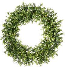 "20 "" Wreath Tealeaf Berry Door Wreath Holiday Country Decor"