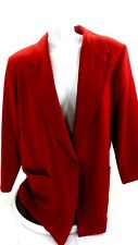 JESSICA HOLBROOK WOMENS RED WOOL BLEND CREPE BLAZER JACKET SIZE 2X
