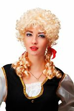 Carnaval Perruque Baroque Blonde Boucles Tresses Marie Antoinette 3048-P02