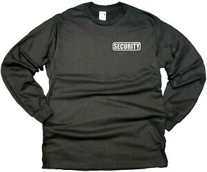 Security Cotton Long Sleeve t Shirts with Reflective Decoration Front and Back