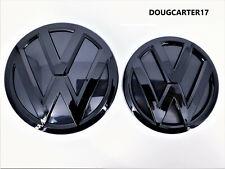 VW POLO 6C MK5 FACELIFT 2014 - 2017 GLOSS BLACK EMBLEM FOR BONNET & BOOT A5 GPXC