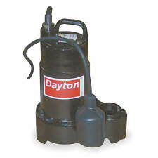 DAYTON 1/4 Pump HP Submersible Sump Pump, Tether Switch Type, Cast Iron Base Mat