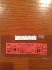 1972 Cleveland Indians Press Straight A Full Unused Baseball Ticket Stub Stadium
