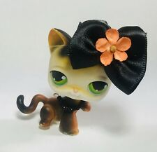 Littlest Pet Shop #27 Calico Kitty Cat, Green Eyes W/Accesories